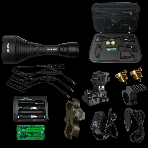Kill Light 174 Xlr 750hd Pro Zoom Focus Hunting Light Package