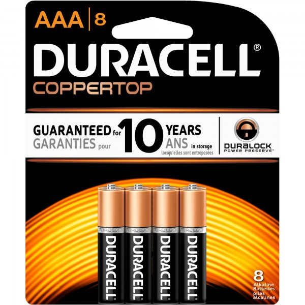 Duracell Coppertop Battery Aaa Cell 4 Pack