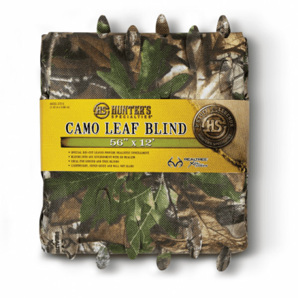 Hunters Specialties Camo Leaf Blind 56in X 12ft