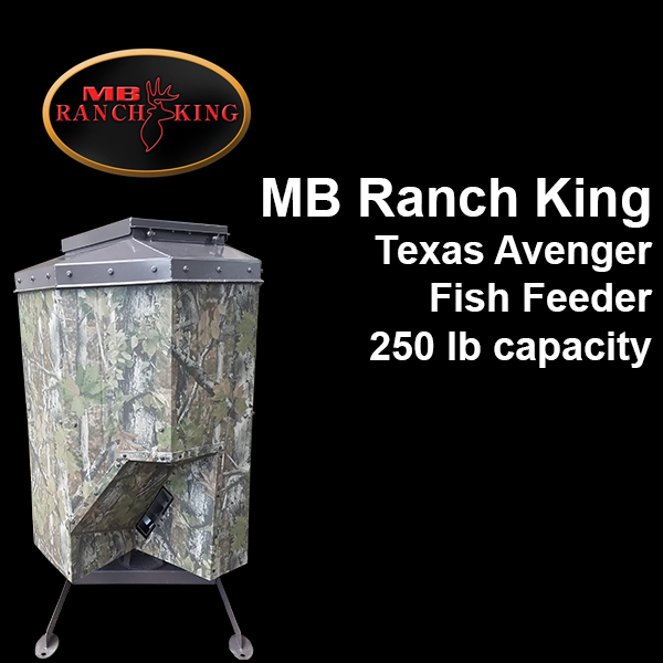 Mb ranch king texas avenger automatic fish feeder fish for Texas hunter fish feeder