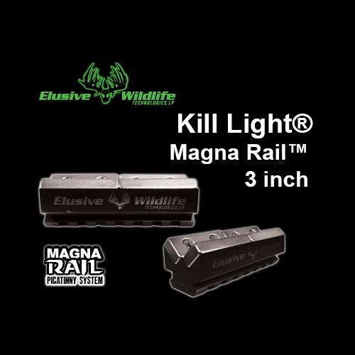 Kill Light 174 Magna Rail Magnetic Rail Mount 3 Inch