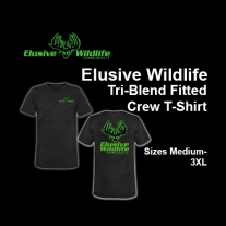 Elusive Wildlife Technologies Tri-Blend Fitted Crew T-Shirt