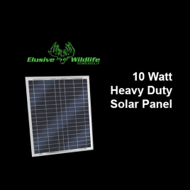 Solar Panel 10 Watt, 12 Volt Mono-Crystalline