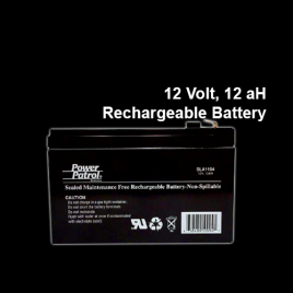 12 Volt, 12aH Rechargeable Battery