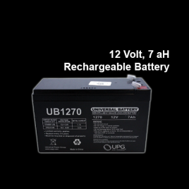 12 Volt, 7aH Rechargeable Battery