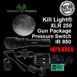 Kill Light® XLR 250 Gun Package, SINGLE MODE, Pressure Switch - IR/Infrared