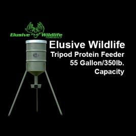 Elusive Wildlife Tripod Protein Feeder, 55 Gallon/350lb. Capacity