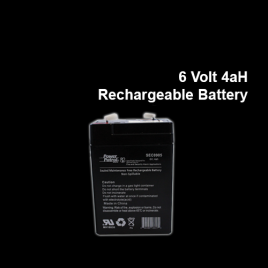 6 Volt 4aH Rechargeable Battery