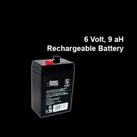 6 Volt, 9ah Rechargeable Battery