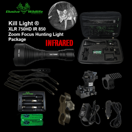 Kill Light® XLR 750HD Zoom Focus Hunting Light Package - IR 850/Infrared