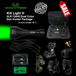 Kill Light® XLR 750HD Zoom Focus Dual Color Gun Hunter Kit - GREEN & RED