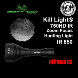 Kill Light® XLR 750HD Zoom Focus Hunting Light - IR 850/Infrared