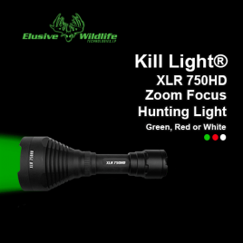 Kill Light® XLR 750HD Zoom Focus Hunting Light - FLASHLIGHT ONLY