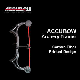 ACCUBOW Archery Trainer - Carbon Fiber Design