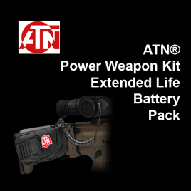 ATN® Power Weapon Kit - Extended Life Battery Pack 16,000 mAh with microUSB cable, cap, and butt stock case