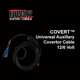 COVERT™ Universal Auxillary Convertor Cable (12 & 6 Volt)