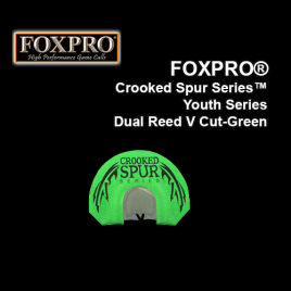 FOXPRO® Crooked Spur Series™ Youth Series Dual Reed V Cut-Green