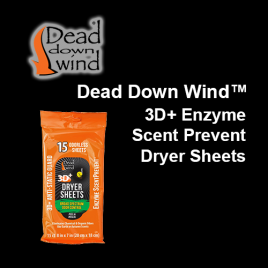 Dead Down Wind™- Dryer Sheets 3D+ Enzyme Scent Prevent