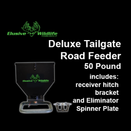 Deluxe Tailgate Road Feeder with Eliminator Spinner Plate, 50 Pound Capacity