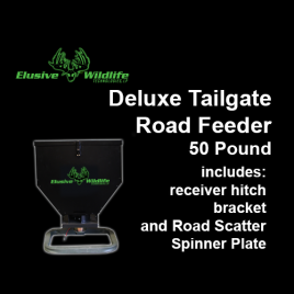 Deluxe Tailgate Road Feeder, Road Spinner Plate, 50 Pound Capacity