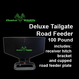 Deluxe Tailgate Road Feeder, Road Spinner Plate, 100 Pound Capacity