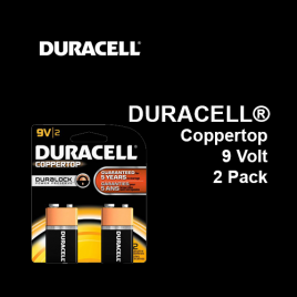 DURACELL® Coppertop Battery 9 Volt,  2 Pack