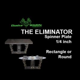 THE ELIMINATOR Varmint Proof Spinner Plate, 1/4 inch shaft