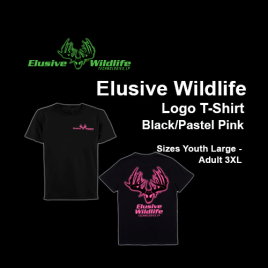 Elusive Wildlife Technologies Logo T-Shirt - Black/Pink