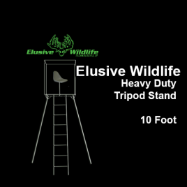 Elusive Wildlife Heavy Duty Tripod Stand, 10 Foot