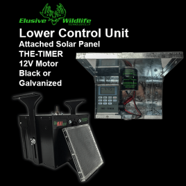 """Lower Control Unit - Box, 12 Volt Motor, """"THE TIMER"""" &  Attached Solar Panel"""