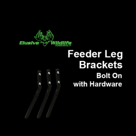 Feeder Leg Brackets, Bolt On with Hardware, Black