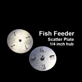 Fish Feeder Scatter Plate, 1/4 inch hub