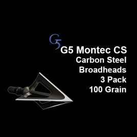"G5® Montec CS™ Broadhead, 3 Pack, 1 & 1/16"", 100 grain"