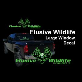 Elusive Wildlife Technologies, Large Window Decal