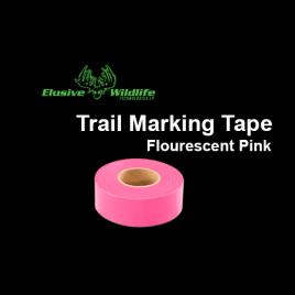 Trail Marking Ribbon, Flourescent Pink