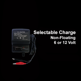 6 or 12 Volt Selectable DC Charger