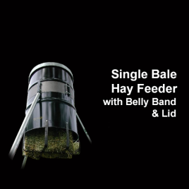 Single Bale Hay Feeder with HD Belly Band and Galv Lid