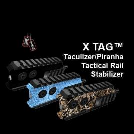 X-TAG™ Taculizer/Piranha Tactical Rail Stabilizer, 4 inch