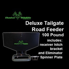 Deluxe Tailgate Road Feeder with Eliminator Spinner Plate, 100 Pound Capacity