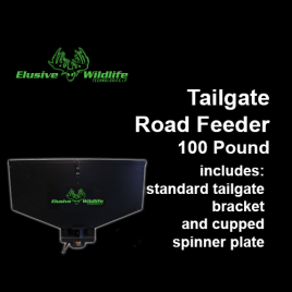 Tailgate Road Feeder with Road Spinner Plate, 100 Pound Capacity