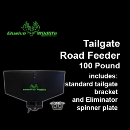 Tailgate Road Feeder with Eliminator Spinner Plate, 100 Pound Capacity