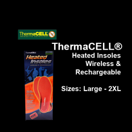 ThermaCELL® Wireless & Rechargeable Heated Insoles