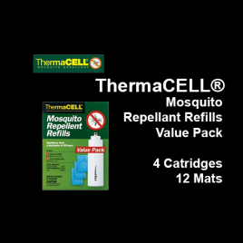 ThermaCELL® Mosquito Repellant Refills Value Pack, 4 Cartridges with 12 Mats