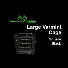 Large Wire Varmint Cage, Square - Black