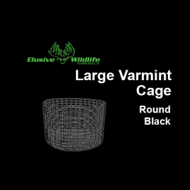 Large Wire Varmint Cage, Round - Black