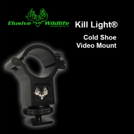 Kill Light® Video Light Cold Shoe Mount, 25mm or 30mm