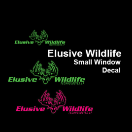 Elusive Wildlife Small Window Decal