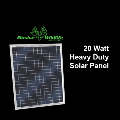 Solar Panel 20 Watt, 12 Volt Mono-Crystalline