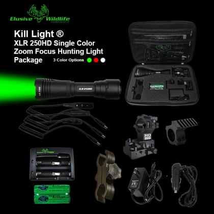Kill Light® XLR 250HD Zoom Focus Hunting Light Package**WHITE LED BACKORDERED**