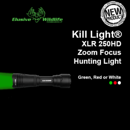 Kill Light® XLR 250HD Zoom Focus Hunting Light - FLASHLIGHT ONLY